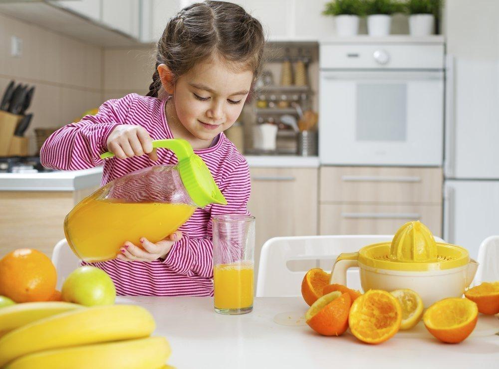 Питание ребенка и самый свежий сок