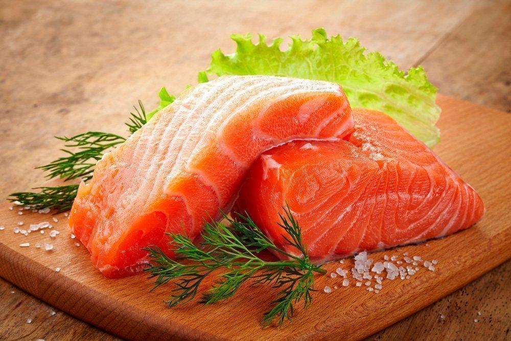 Жирная рыба, лосось, семга, тунец
