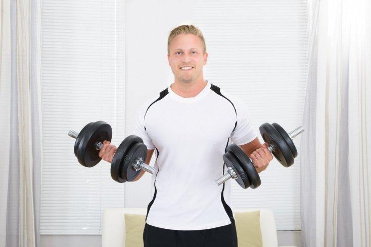 Занятия с гантелями на трицепс упражнения