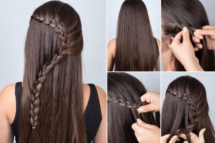 Водопад на волосах