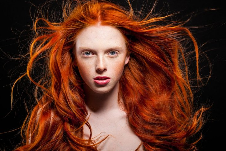 Рыжий цвет волос — редкость