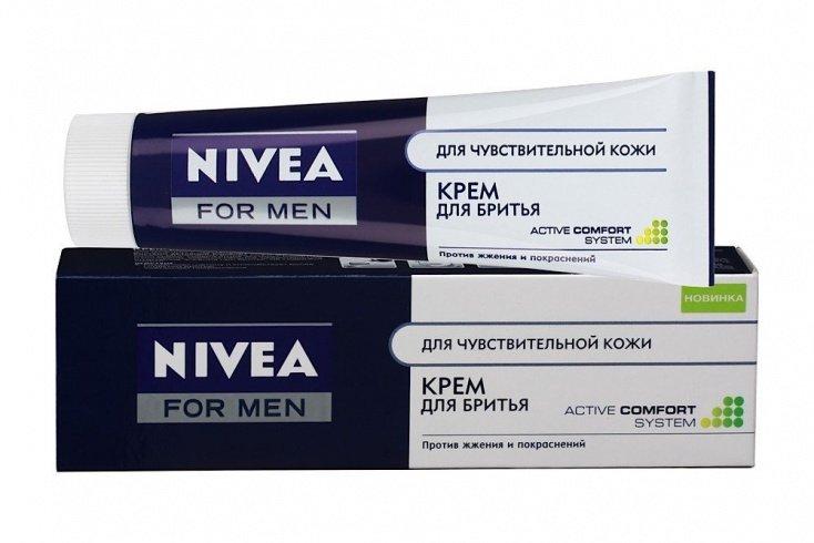 Крем для бритья для чувствительной кожи Nivea, 100 мл Источник: kremys.ru