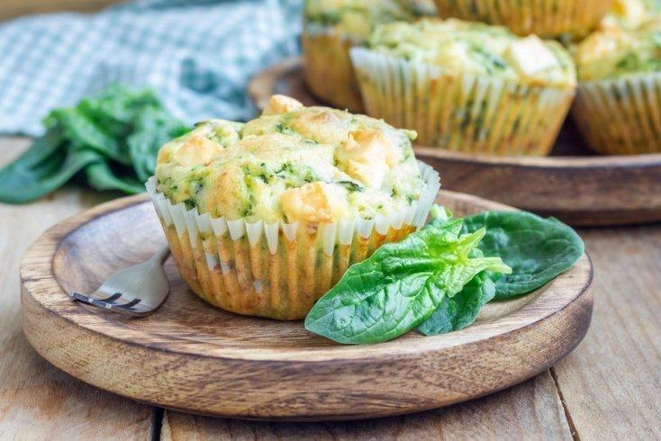 Правильное питание: кексы с базиликом и шпинатом