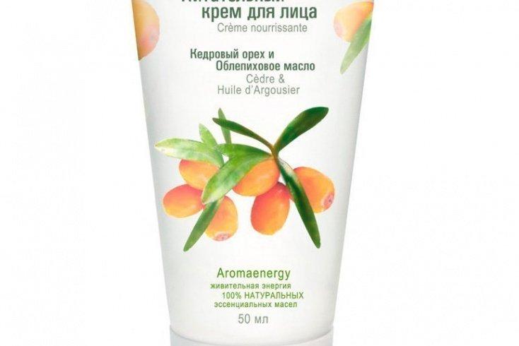 Green Mama, питательный крем для лица «Кедровый орех и облепиховое масло», 50 мл Источник: shop.greenmama.ru