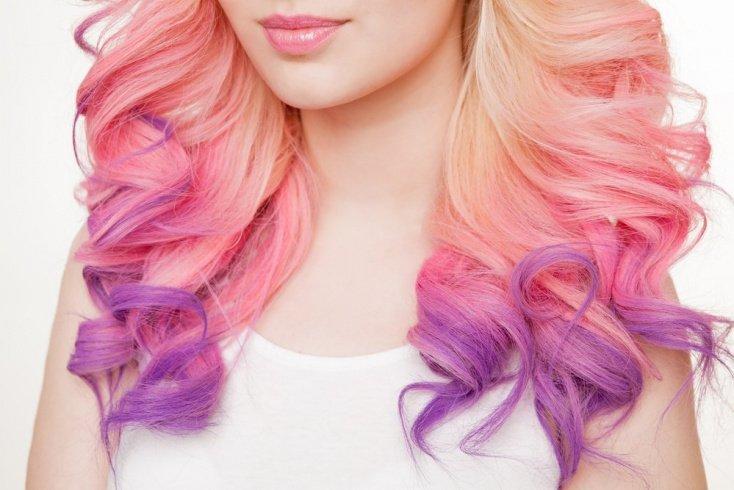 Окрашивание волос мелками