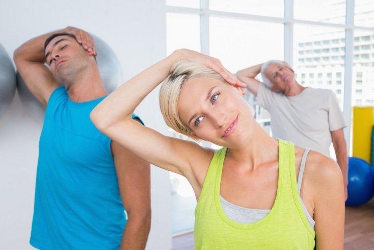 Упражнения на растяжку шейных мышц