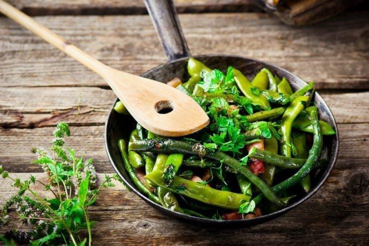 Простой рецепт пикантной зеленой фасоли