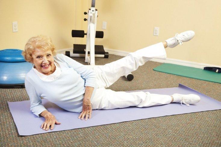 Комплекс упражнений в положении тела лежа