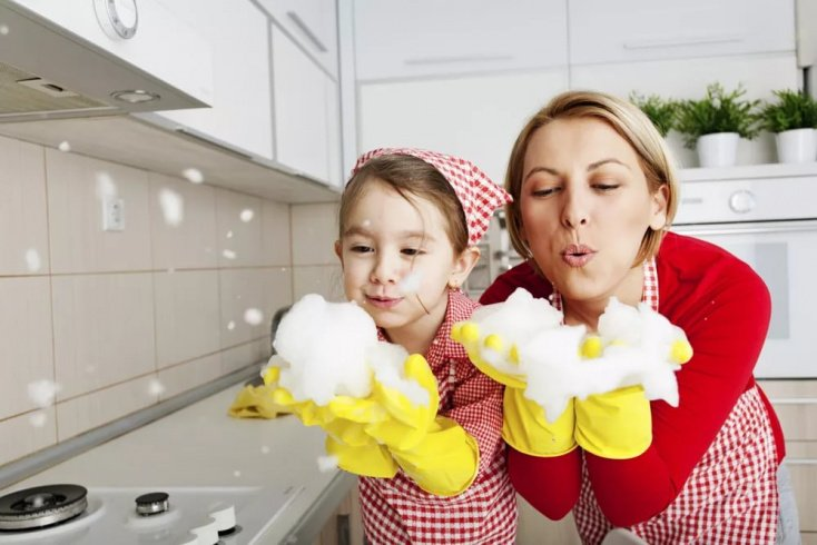 Хорошие привычки: убираем и отдыхаем вместе с детьми