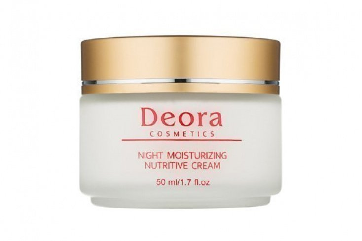 Крем ночной для лица увлажняющий и питательный с маслом макадамии, Deora Источник: deora-cosmetics.ru