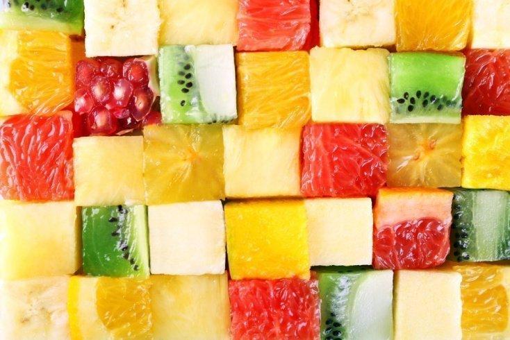 «Фруктовый куб» с сыром