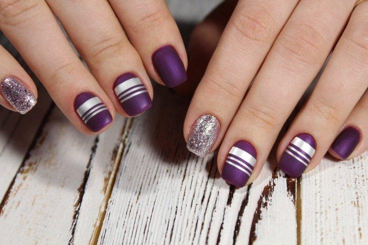 Стильная геометрия на ногтях