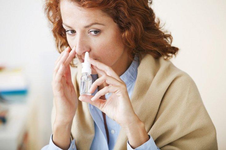 Местные формы: капли в нос от аллергии