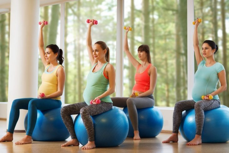 Тренировочный комплекс упражнений для беременных