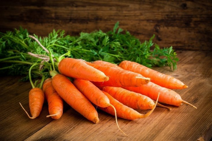 Меню питания и морковь