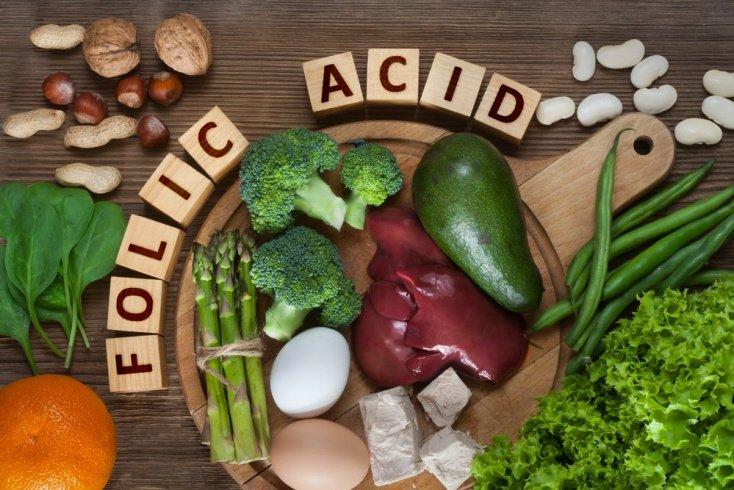 Зеленые листовые овощи: фолиевая кислота