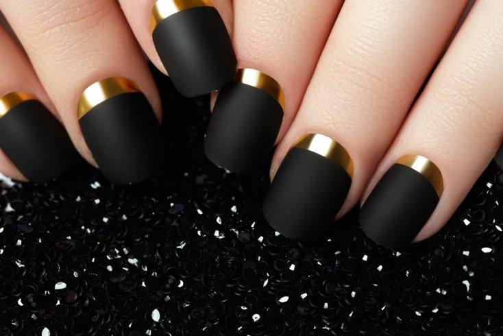 Золото на ногтях
