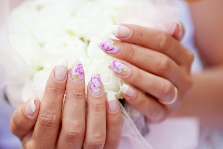 Цветочный дизайн ногтей для начинающих