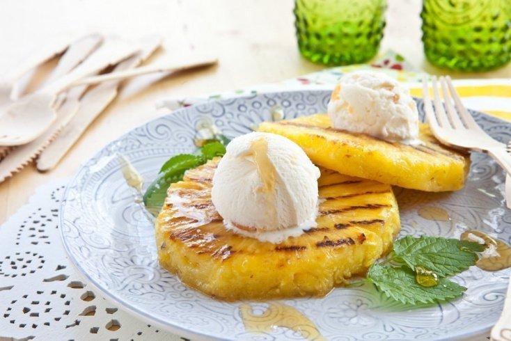 Быстрый рецепт жареных ананасов