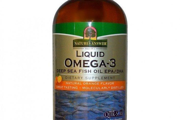 Liquid Omega-3, Deep Sea Fish Oil EPA/DHA, Natural Orange Flavor