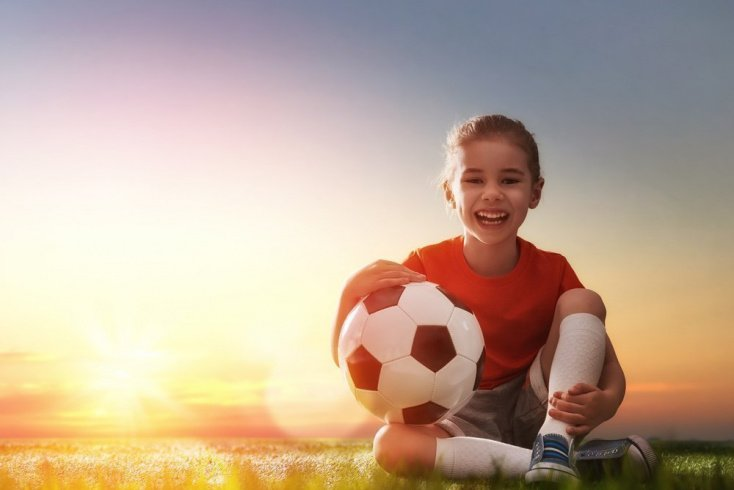 Ребенок и футбол