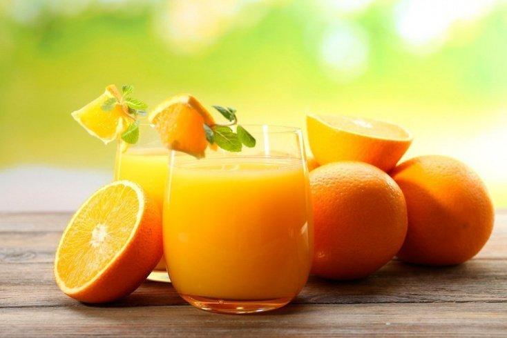 Апельсиновый напиток с мятой и красным перцем