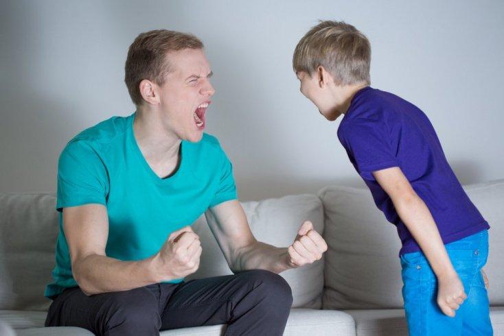 Ребенок «впитывает» агрессивные способы общения