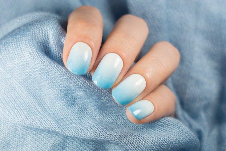Голубой: морской дизайн ногтей