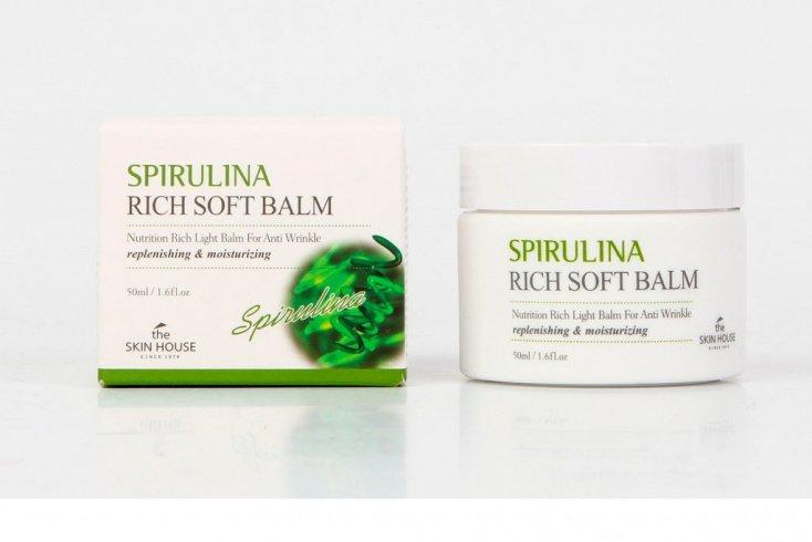 Крем-бальзам со спирулиной для лица The Skin House Spirulina rich soft balm Источник: shop24.com