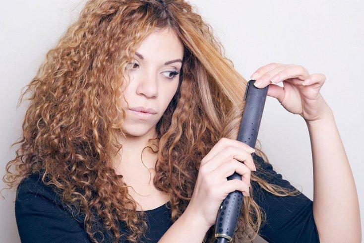 Укладка пушистых волос