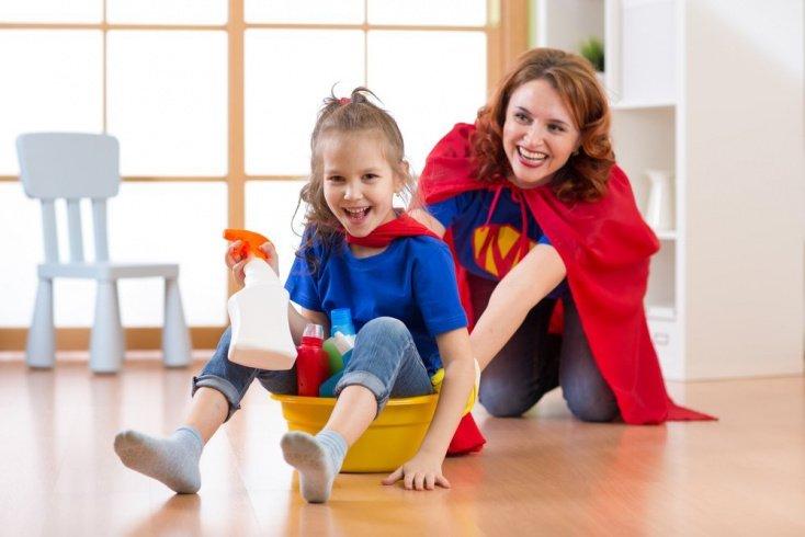 Уборка дома: занятия для детей и родителей