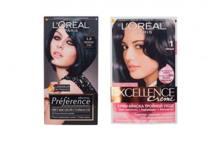 Краски L'oreal Preference Recital и L'oreal Excellence Источник: ptfiles.blob.core.windows.net