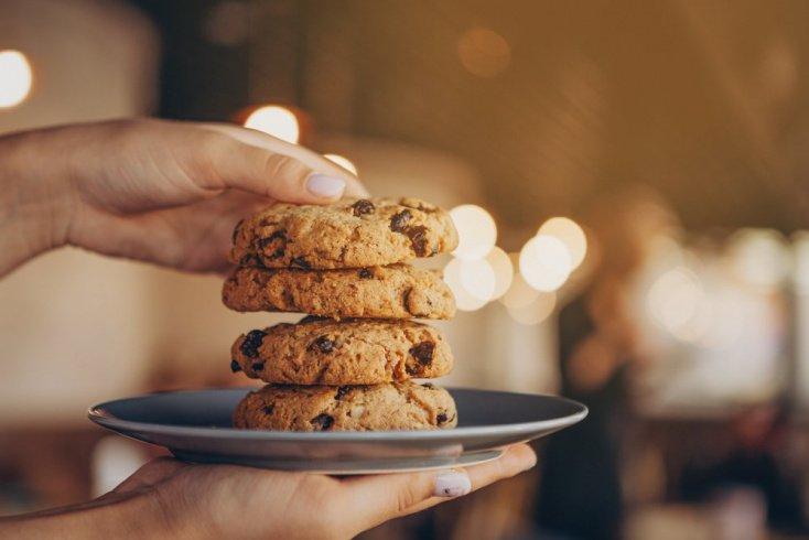 Овсяное печенье с миндалем