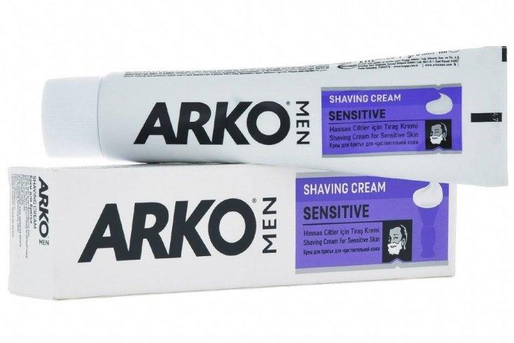 Крем для бритья «Sensitive» Arko Men, 65 мл Источник: krasotamart.ru