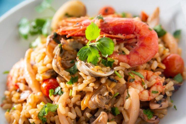 Как приготовить ризотто с грибами и морепродуктами?