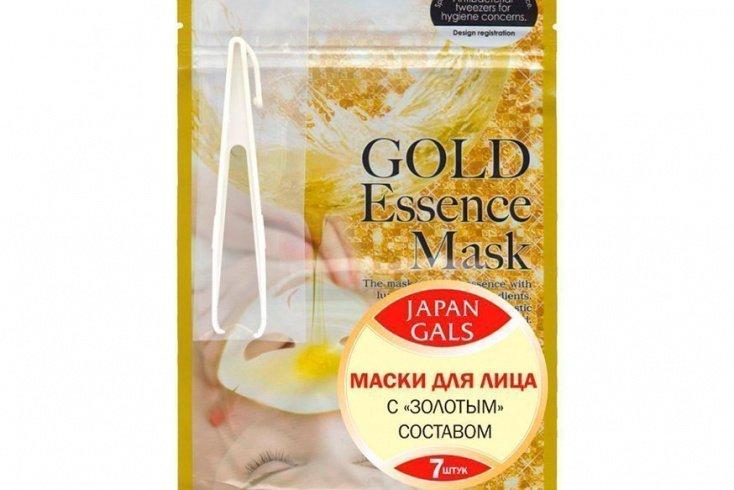 Маска для лица с «золотым» составом, Japan Gals Essence Mask Источник: onlinetrade.ru