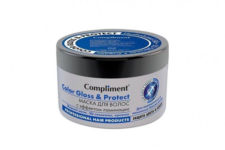 Маска для волос с эффектом ламинации Color Gloss&Protect, Compliment
