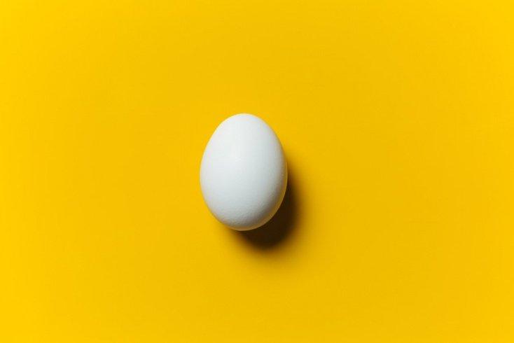 Варенные куриные яйца