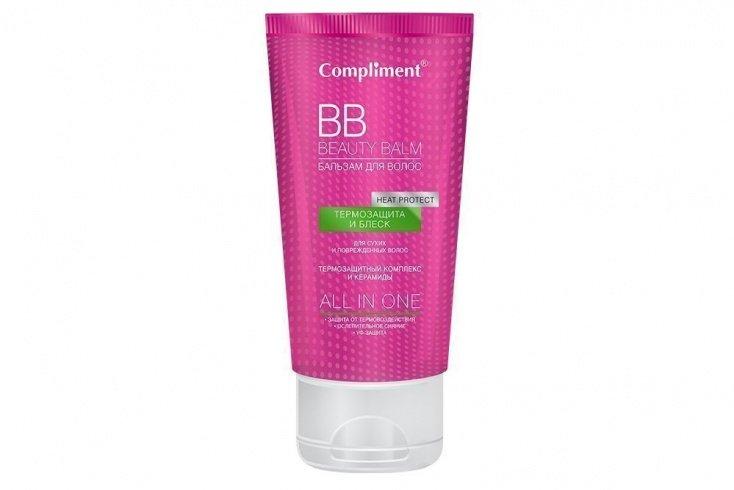 Beauty Balm Бальзам для волос «Термозащита и блеск», Compliment