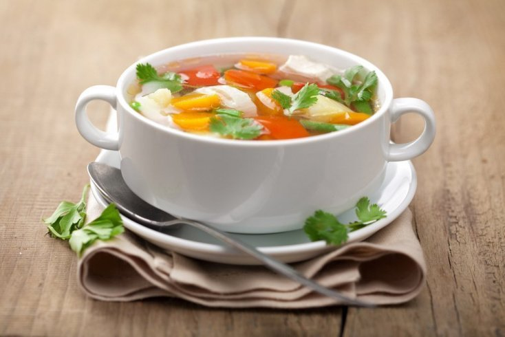 1. Куриный суп