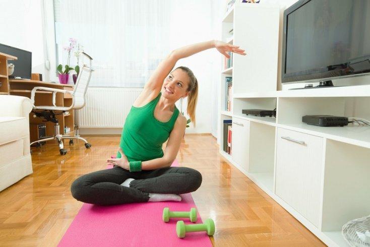 Занятия фитнесом для молодых мам