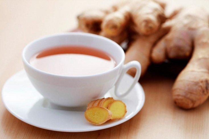 Зеленый чай с порошком имбиря для снижения веса