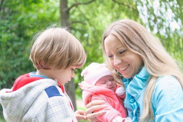 Знакомство с новорожденным