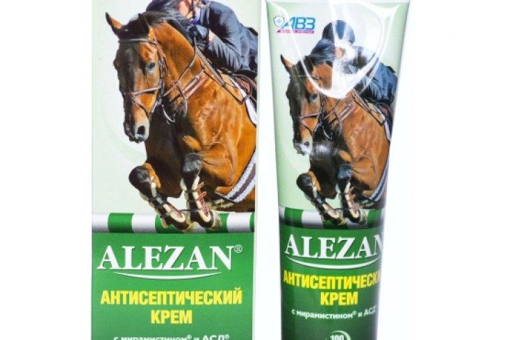 Антисептический лошадиный крем «Алезан»