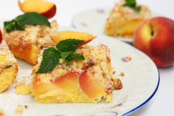 Простой рецепт персикового крамбла