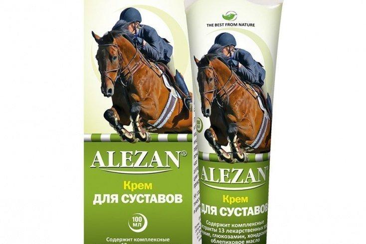 Лошадиный крем для суставов «Алезан»