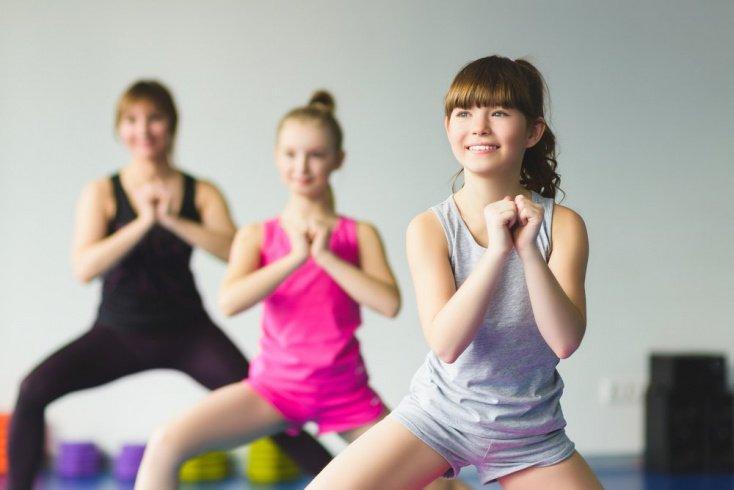 Игры и музыка во время гимнастики