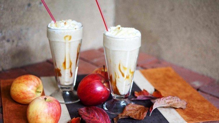 Try a caramel apple shake Source: freshdrink.ir
